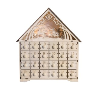 Calendrier en bois Advent Led 348487