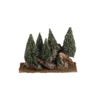 Montagne avec 6 pins 21 x 12 x 14 cm 348822