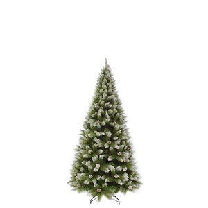 Arbre de Noël Pittsburgh avec pommes de pin H 155 cm 348859