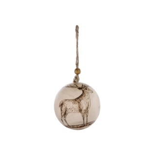Boule cerf en bois - 7x7x8.26 cm 348947