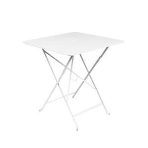Table carrée pliante Bistro Fermob en acier coloris blanc coton 71 x 71 x 74 cm 351103