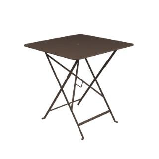 Table carrée pliante Bistro Fermob en acier coloris rouille 71 x 71 x 74 cm 351106