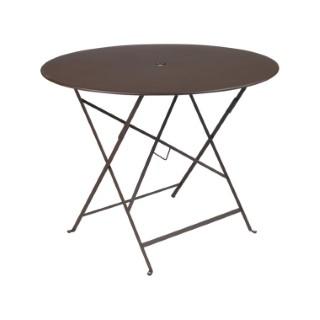 Table ronde pliante Bistro Fermob en acier coloris rouille Ø 96 cm 352688