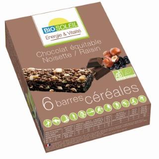 Barres chocolat noisette & raisin - Bio Soleil BIOSOLEIL