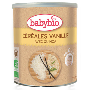 Cereales vanille bio 220 g BABYBIO