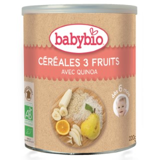 Cereale 3 fruits bio 200 g BABYBIO