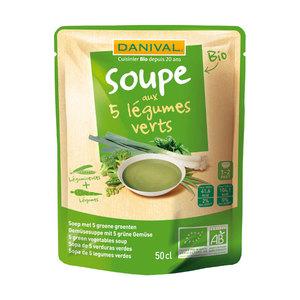 Soupe 5 légumes verts bio DANIVAL 50 cl