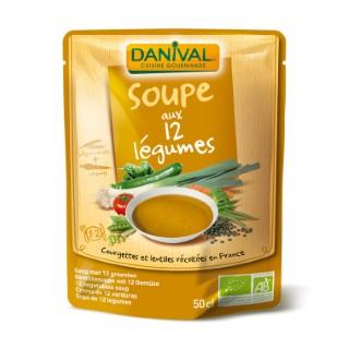 Soupe 12 légumes bio DANIVAL 520 g 355157
