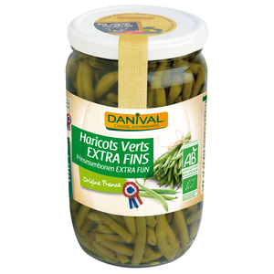 Haricots verts extra fins origine France 345 g DANIVAL