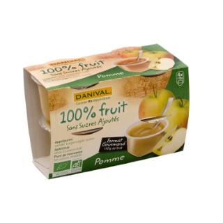 Dessert de fruits bio pomme 440 g DANIVAL