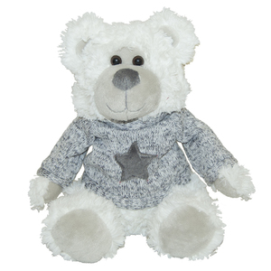 Peluche ours pull étoile grise 357389