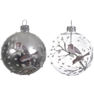 Boule déco oiseaux (disponible en 2 assortiments) 357549