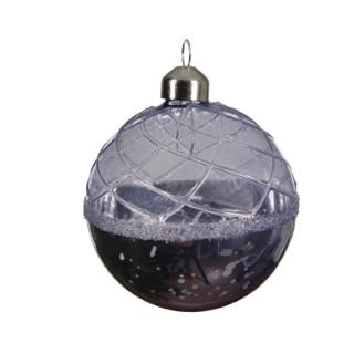 Boule de verre avec finition antique lilac mist 357559