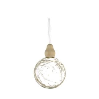 Boule de verre avec branche intérieure (disponible en 2 assortiments) 357572