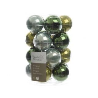 Boîte de 20 Boules vertes brillantes - Ø 6 cm