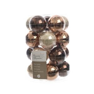 Boite de 20 Boules en verre couleur marron - Ø 6 cm 357615