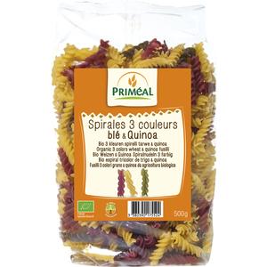 Spirales 3 couleurs quinoa 500 g PRIMEAL