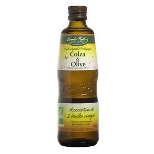 Huile de colza et d'olive bio en bouteille de 500 ml