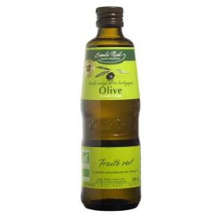 Huile d'olive vierge extra bio fruité vert en bouteille de 500 ml 360052