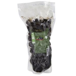 Olives noires aux herbes de Provence bio en sachet de 500 g 360062