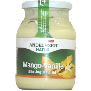 Yaourt mangue vanille