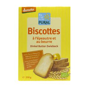Biscottes épeautre beurre - PURAL