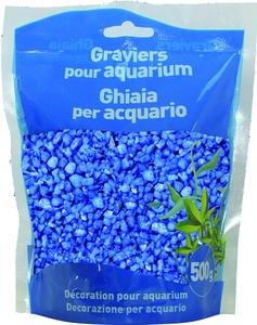 Gravier enrob fluo bleu girard d coration aquarium animalerie botanic - Gravier pour aquarium ...