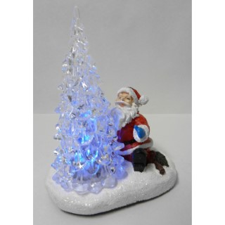 Décoration lumineuse Père Noël et Sapin Led 366223
