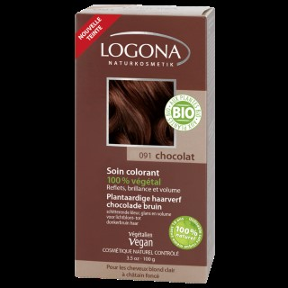 Soin colorant bio 091 teinte chocolat en boite de 100 g 367166