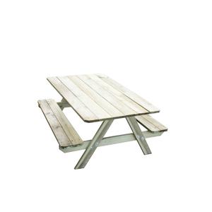 Table pique-nique pour enfants avec bancs intégrés 91x90x57 cm 367456