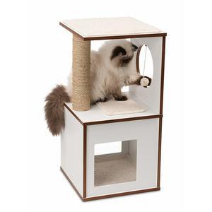 Arbre à chat Vesper Box S en bois coloris blanc 32x32 cm 371209