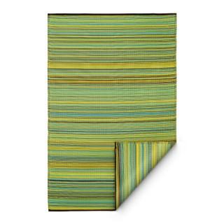 Tapis Cancun jaune vert intérieur / extérieur 180 x 270 cm 371487