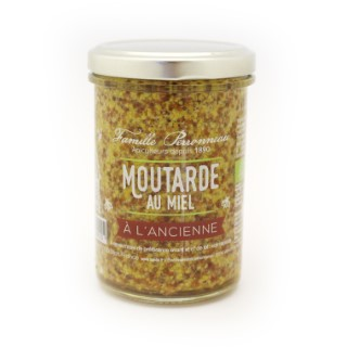Moutarde au miel ancienne en pot de verre de 210 373778