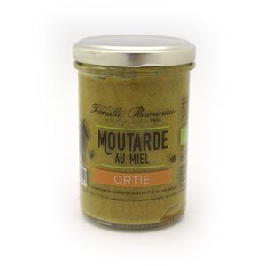 Moutarde au miel et aux orties en pot de verre de 210 g 373779