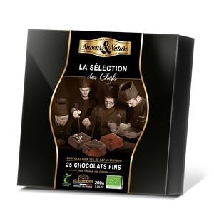 Coffret de chocolats bio la sélection des chefs de 200 g