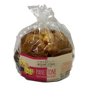 Panettone traditionnel pur beurre bio en sachet de 750 g