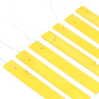 Etiquettes jaunes en bois à suspendre - 12 cm 375030