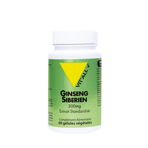 Extrait standardisé de ginseng sibérien en boite de 300 mg 375487