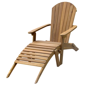 Chaise longue Adirondack bois