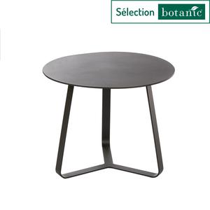 Table basse en aluminium coloris anthracite Ø45 x H 35 cm 379153