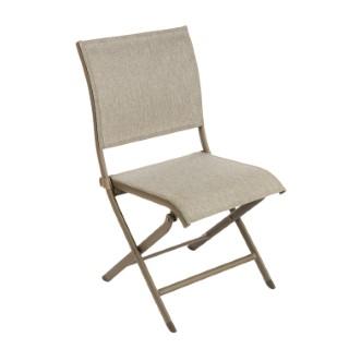Chaise Élégance en aluminium taupe 92 x 49 x 60 cm 379187