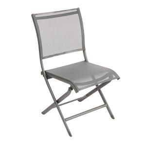 Chaise Élégance en aluminium gris clair 92 x 49 x 60 cm 379189