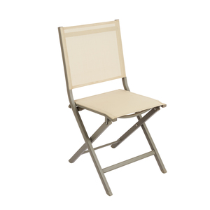 Chaise pliante Max en aluminium beige 90 x 45 x 52 cm 379200