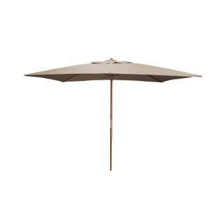 Parasol rectangulaire  bois taupe