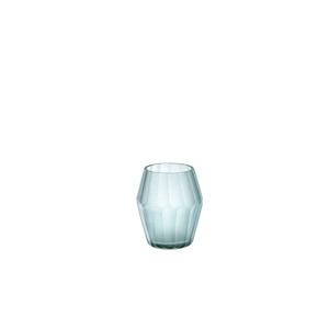 Photophore conique coloris gris bleu 10x8 cm