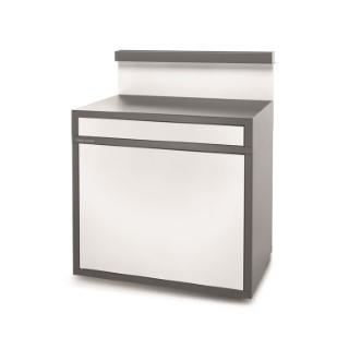 Support pour desserte fermé en acier gris blanc 379862