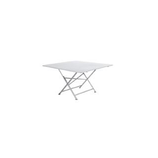 Table pliante Cargo Fermob en acier coloris blanc coton 128 x 128 x 74 cm 380363