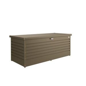 Coffre de jardin bronze métallique 181x79x71 cm 382412