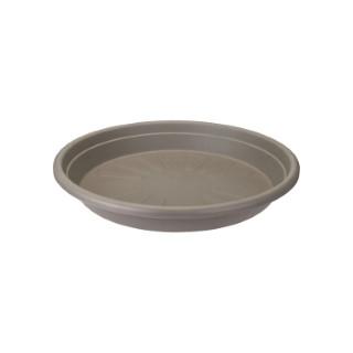 Soucoupe ronde couleur taupe - Ø 15x2.3 cm 382434