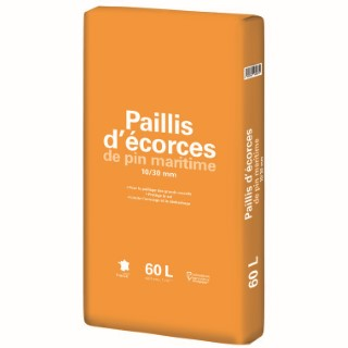 Paillis d'écorce de pin maritime 10/30 mm 60 L 386881